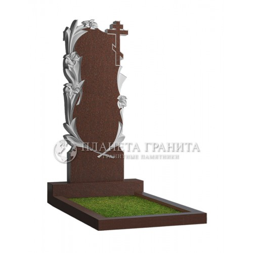 Памятник Ц3К «Памятник с лилиями и крестом»