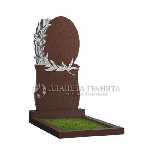 Памятник Ц4К «Памятник овал с лилиями»