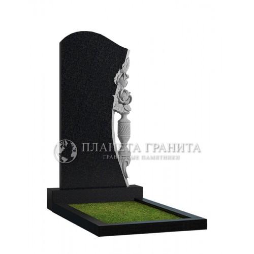 Памятник Ц8 «Памятник с вазой и розами»