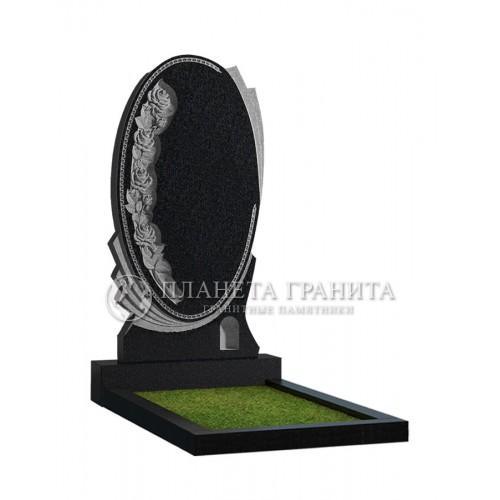 Памятник Ц10 «Памятник зеркало с розами»
