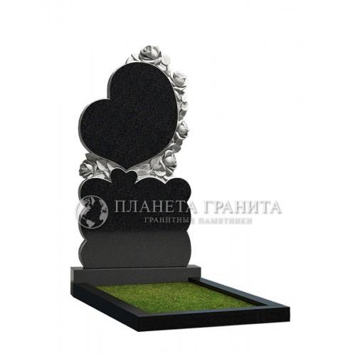 Памятник Ц12 «Памятник сердце с розами»