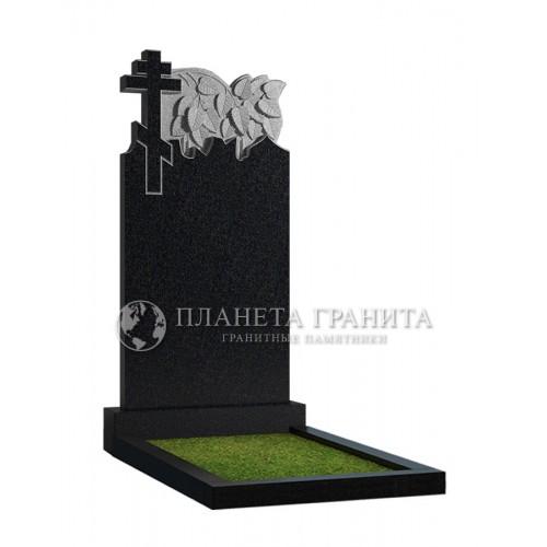 Памятник Д2 «Крест и ветка березы»