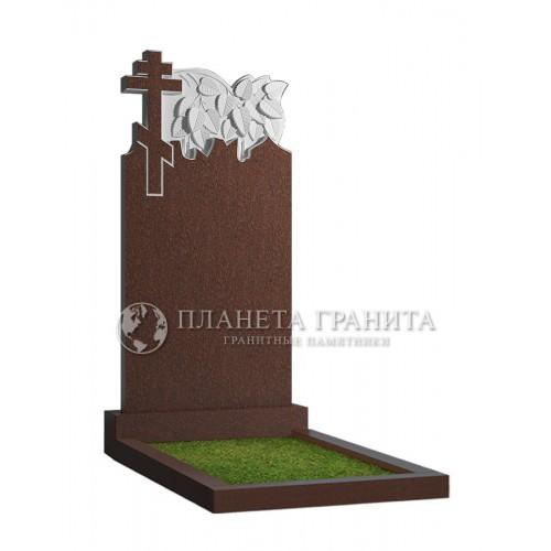 Памятник Д2к «Крест и ветка березы»