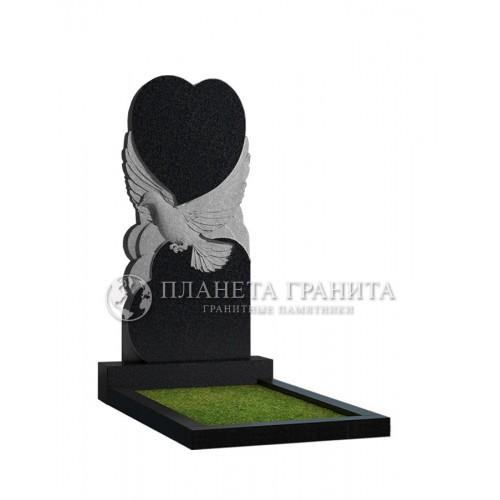 Памятник П1 «Памятник голубь с сердцем»
