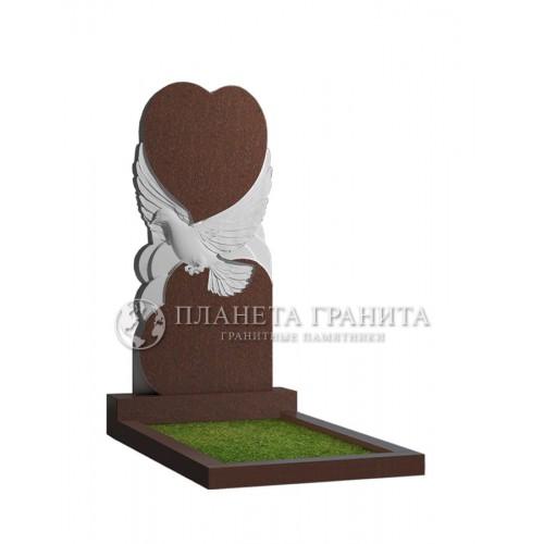 Памятник П1К «Памятник голубь с сердцем»